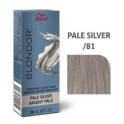 Blondor Permanent Liquid Hair Toner /81 Pale Silver HAIR COLOR WELLA PROFESSIONAL