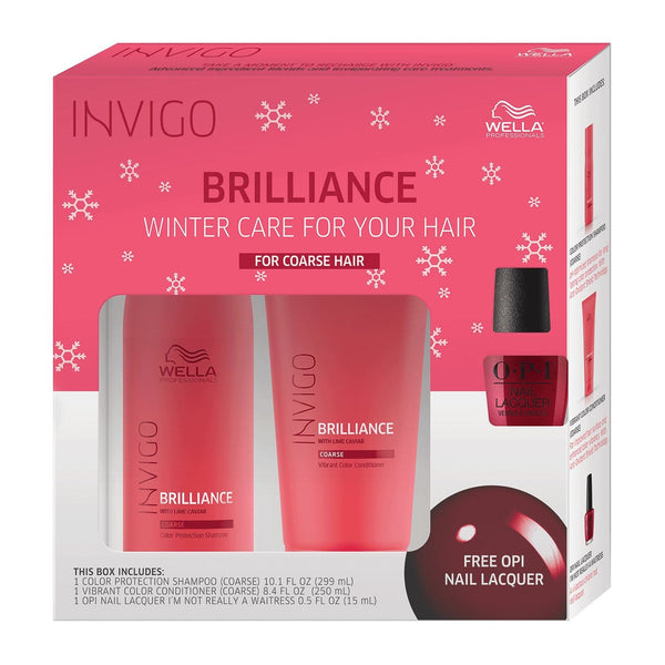 INVIGO Brilliance Holiday Gift Pack (Coarse) with FREE Nail Polish SHAMPOO AND CONDITIONER WELLA PROFESSIONAL