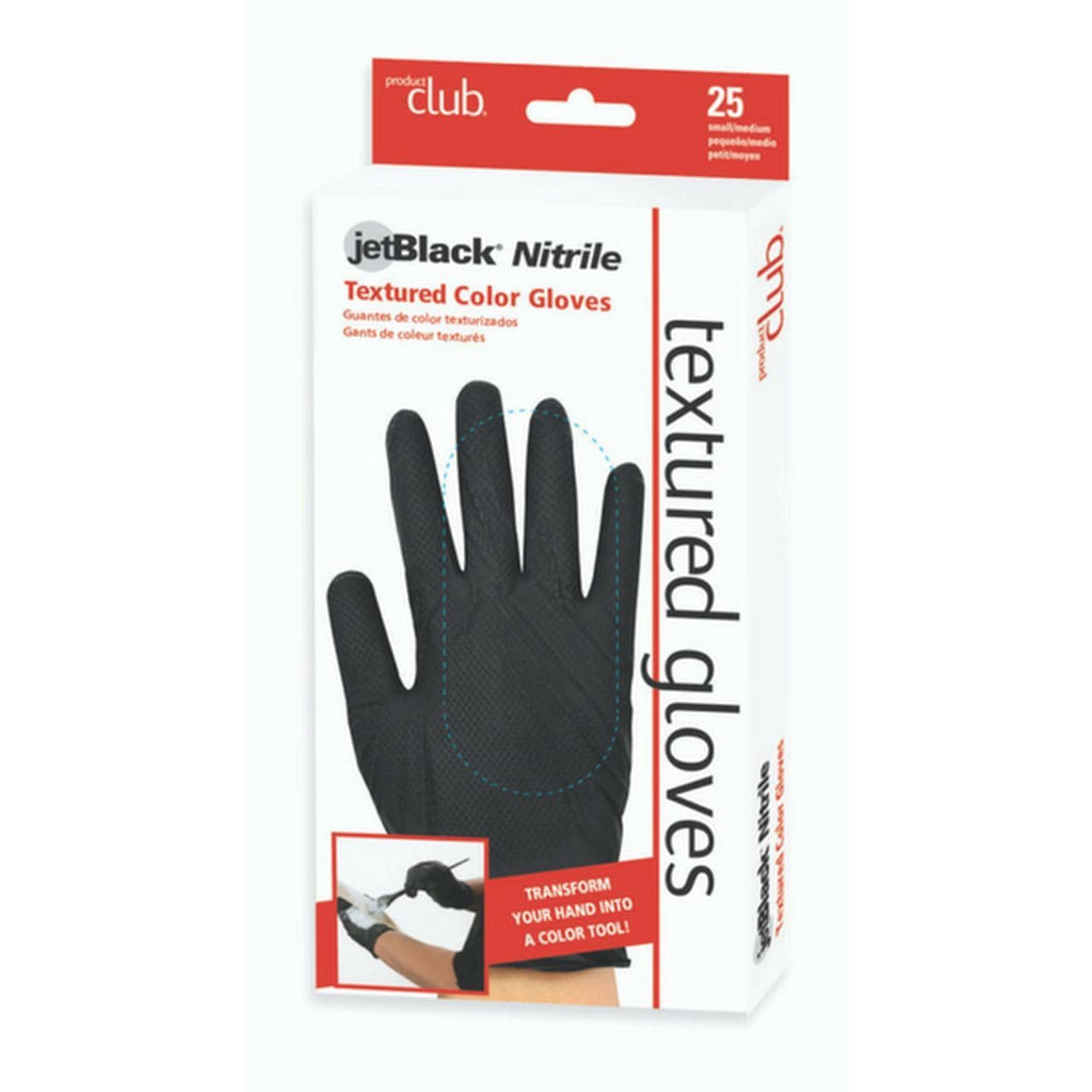 Jetblack Nitrile Textured Gloves | PRODUCT CLUB | SHSalons.com