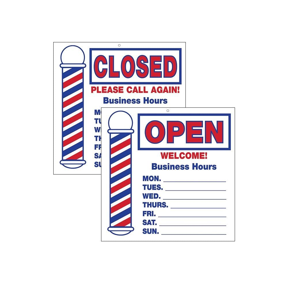 Open/Closed Barber Pole Sign | SC-9016 | SCALPMASTER | SHSalons.com