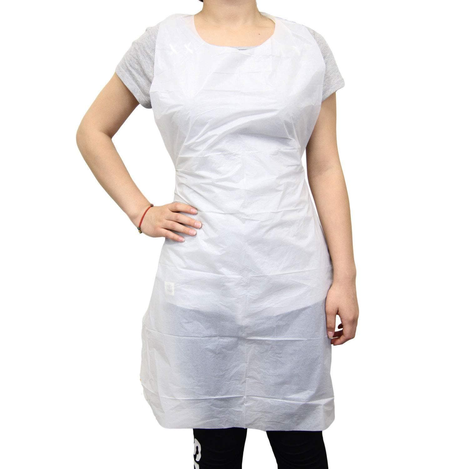 Poly Disposable Aprons | 100 pack | KingSeal - SH Salons