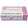 Disposable Gloves | Powder Free | Vinyl | Great Glove