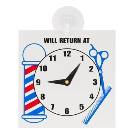 """Will Return at"" Clock Sign 