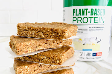 Oatmeal Cookie Dough Protein Bars