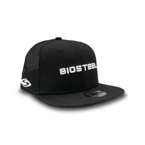BioSteel New Era Youth Black Mesh Snapback