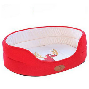 Round Fleece Dog Bed