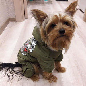 Biker-Themed Dog Parka