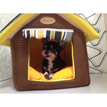 Soft Striped Dog House
