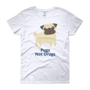 Pugs Not Drugs Women's T-Shirt