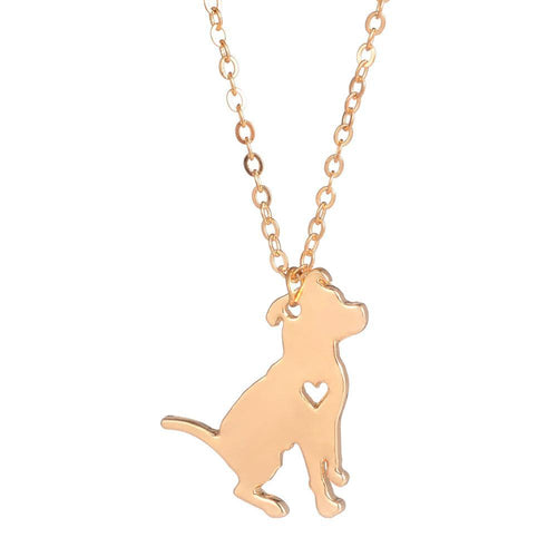 Chain Pitbull Puppy Pendant Necklace