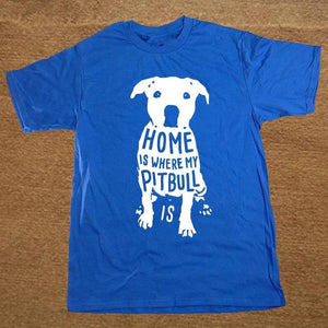 Home Is Where My Pitbull Is Men's T-Shirt