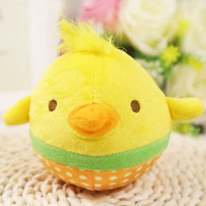 Round Plush Animal Squeaky Toy