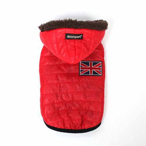 Union Jack Hooded Puffer Jacket