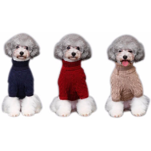 Classic Turtleneck Dog Sweater