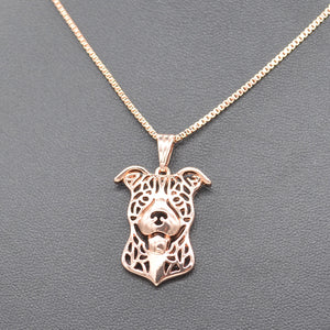 Pitbull Head Pendant Necklace