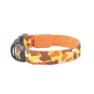 Camo Print Glow In The Dark LED Safety Collar