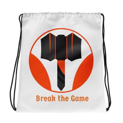 Break the Game Drawstring Bag