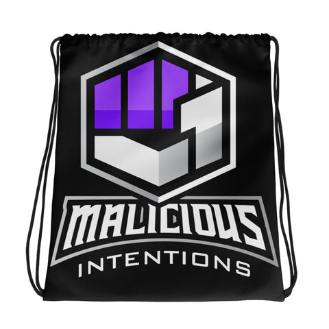 Malicious Intentions Drawstring bag