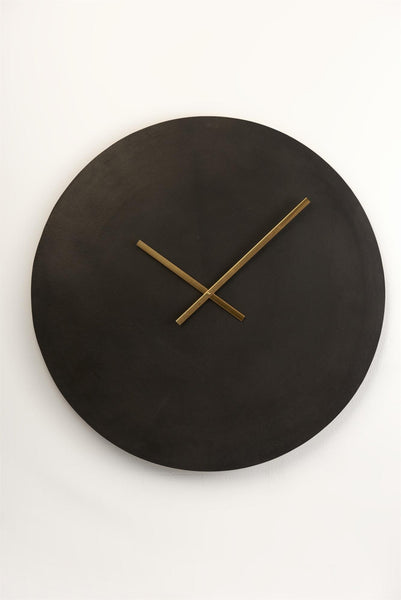 Burnished Black Wall Clock
