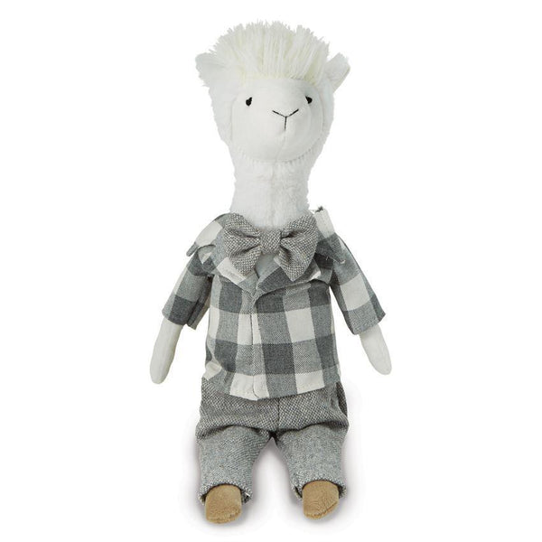 Plaid Plush Llama Doll