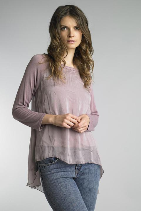 Jersey Mauve Silk Top