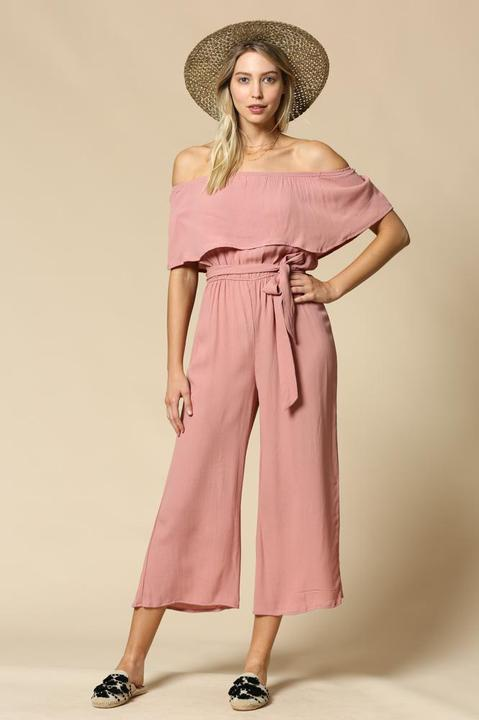 Powder Rose Babe Jumpsuit