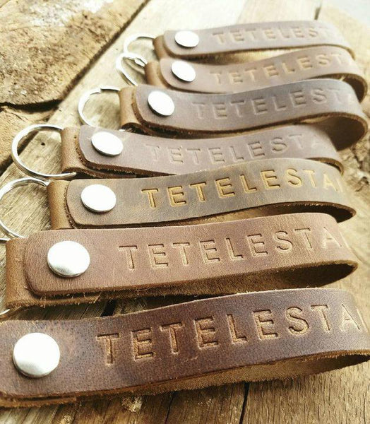 Tetelestai Leather Keychains