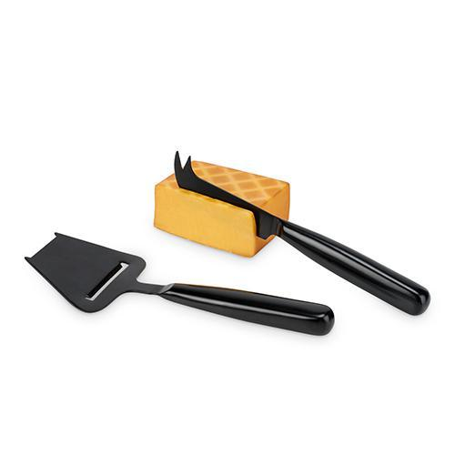 Black Matte Cheese Knife Set