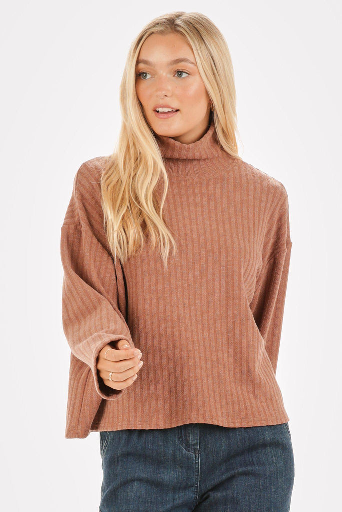 Rose Neck Sweater