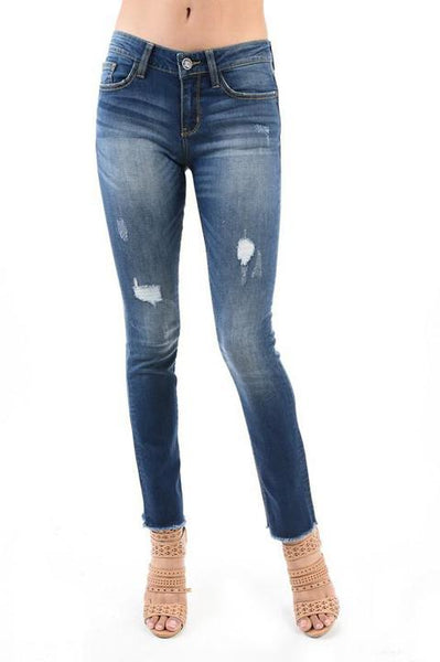 Edgy & Destroyed Skinny Jean