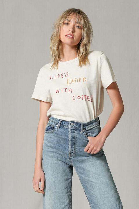 Life is Easier with Coffee Tee