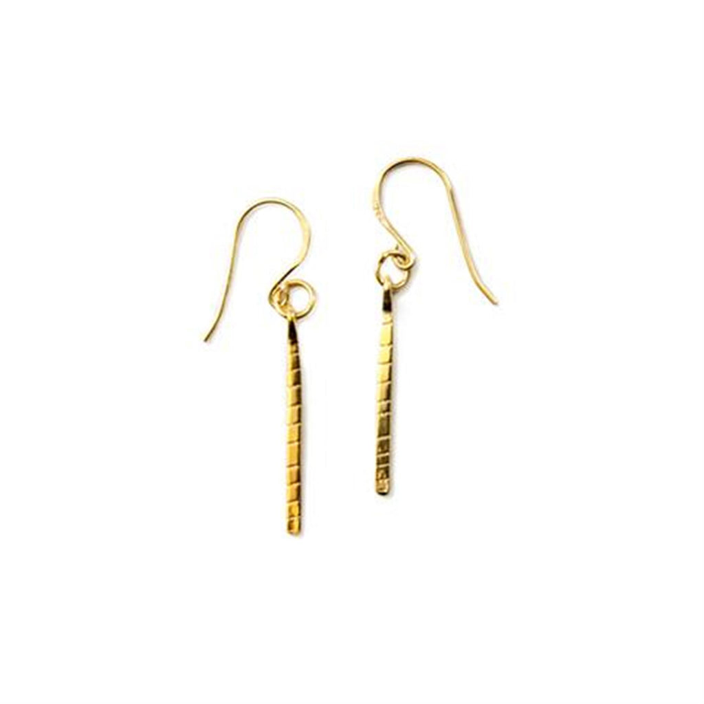 Gold Text Earring