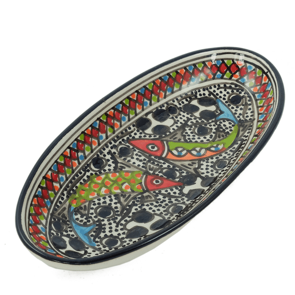 Rainbow Fish Oval Platter