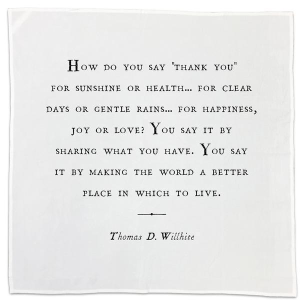 Gratitude Tea Towel