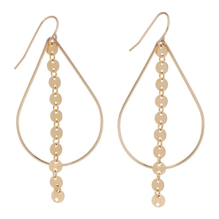 Infiniti Chic Teardrop Gold Earrings