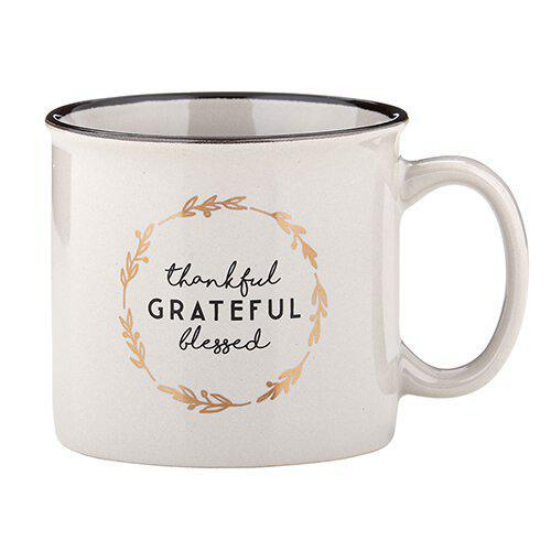 Thankful Grateful Blessed Mug