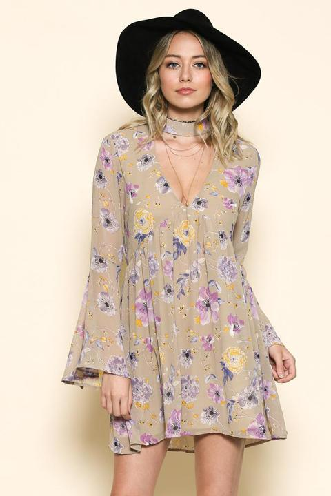 Byron Floral Flow Dress