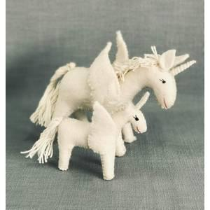 Small Felt White Unicorn
