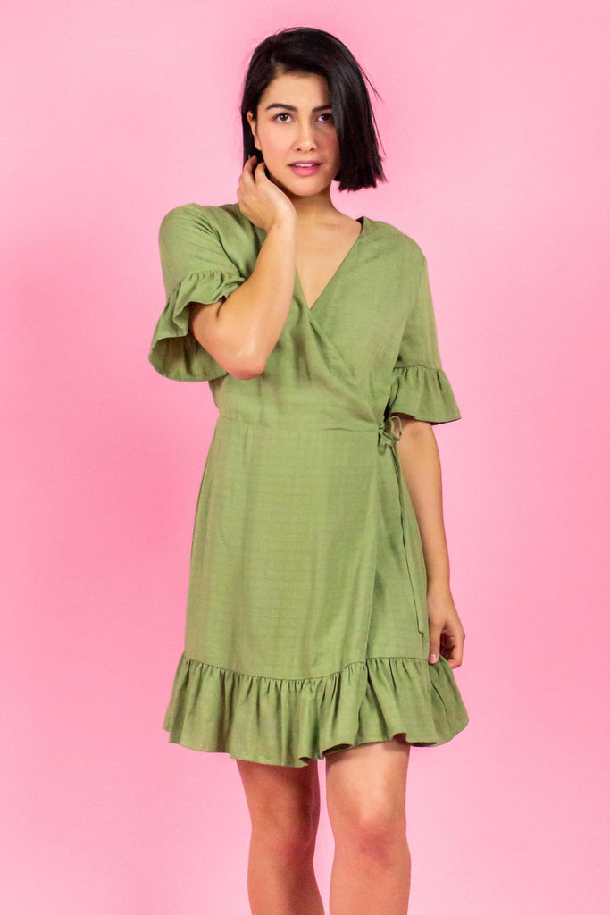 Avocado Ruffle Dress