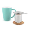 Bailey Blue Ceramic Tea Mug & Infuser
