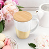 Bailey Gold Dipped Ceramic Tea Mug & Infuser