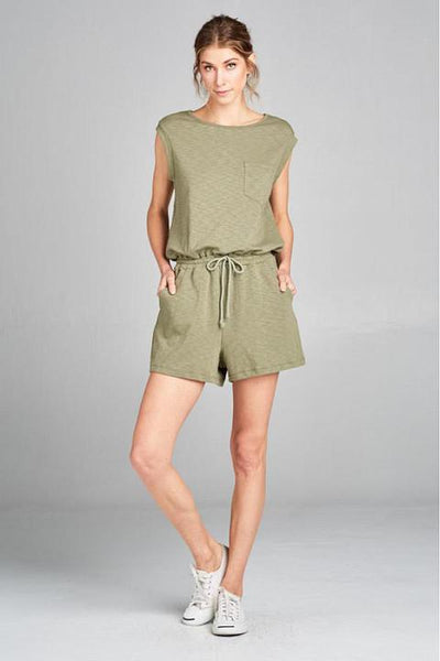 Casual Olive Romper