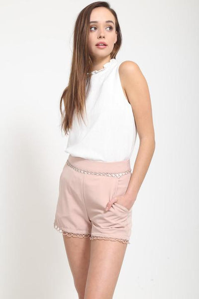 Tay Blush Circle Shorts