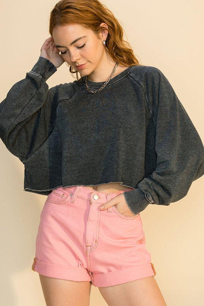 Rag Crop Sweat Top