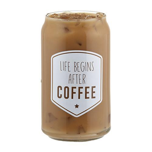 Life Begins After Coffee Iced Coffee Cup