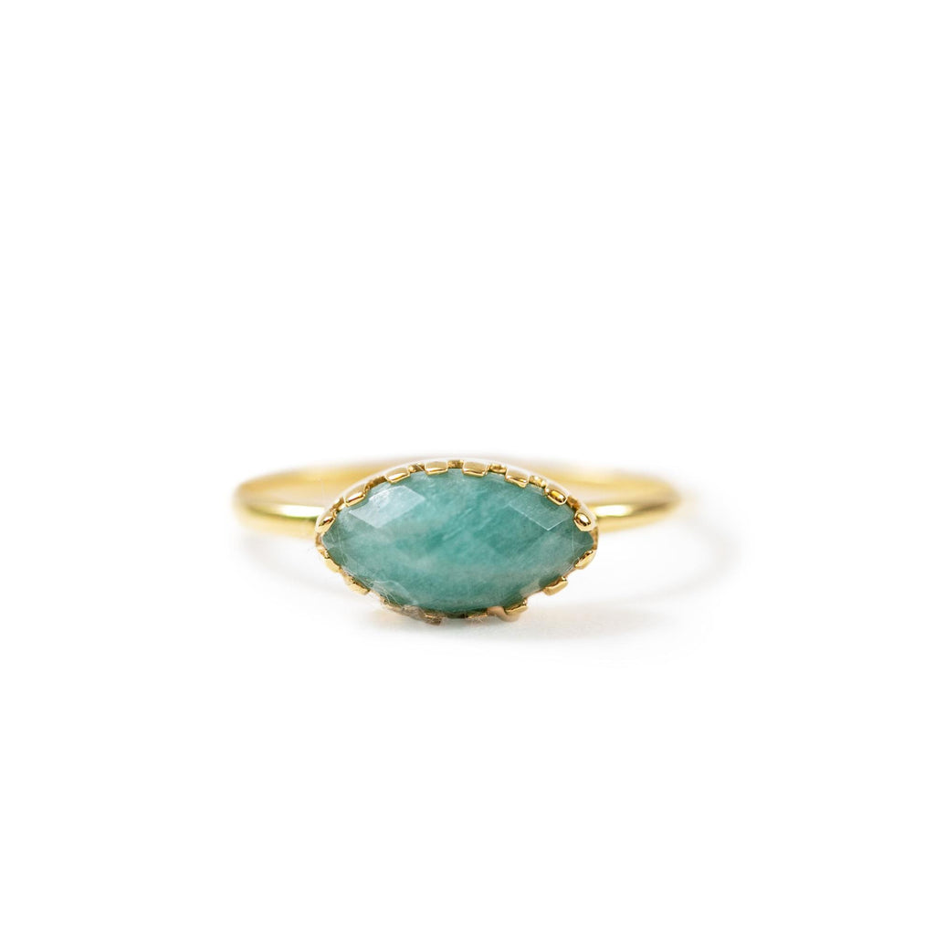 Amazonite Gold Ring