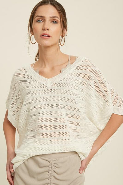 Cream Beach Sweater