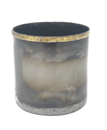 Ox Metal Small Candle