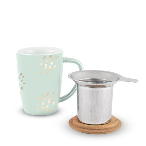 Bailey Dots Ceramic Tea Mug & Infuser