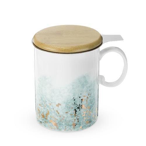 Bennet Blue Ceramic Tea Mug & Infuser